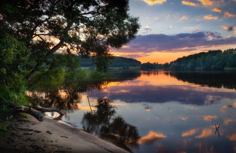 лето, вечер, озеро, Вечерело на озереphoto preview