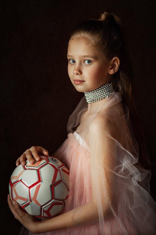 детский портрет,футбол,артпортрет, Юная футболисткаphoto preview