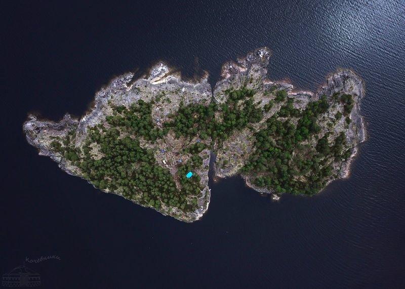 аэросъемка, мавик про, аэро, квадрокоптер, остров, ладога, ладожские шхеры Крыльяphoto preview