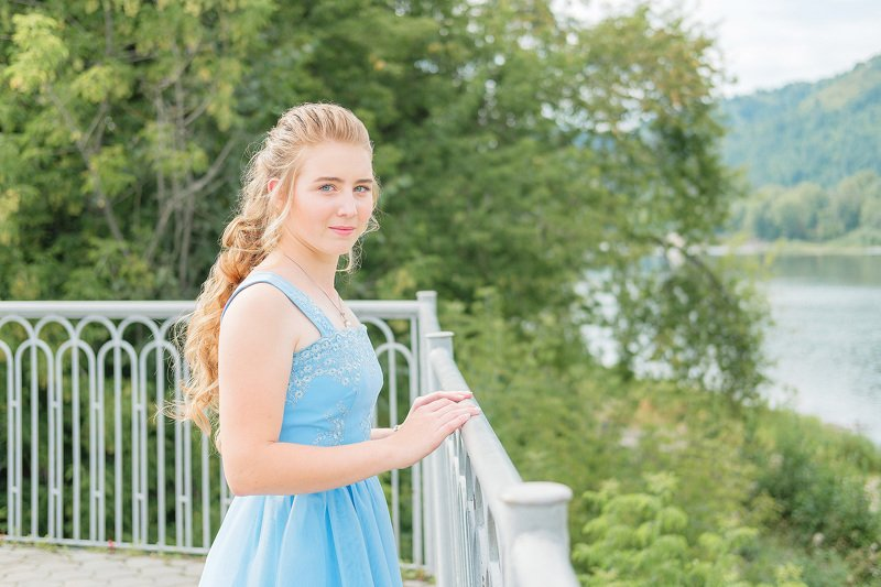 Девушки, портрет, выпускной, лето  Выпускница photo preview