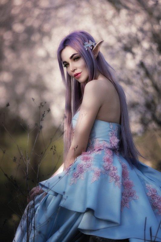 фентези постановочная фотография девушка эльфийка сказка Эльфийкаphoto preview