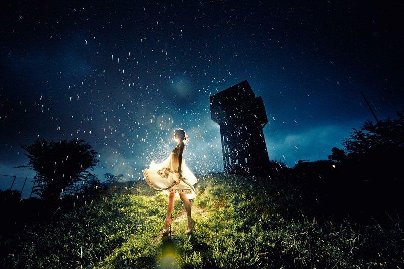 rain, night, strobist, japan, canon, 12mm Rainy Portraitphoto preview