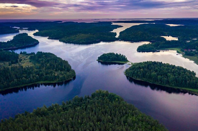 ладога, озеро, шхеры, лето, закат Ладожские шхерыphoto preview