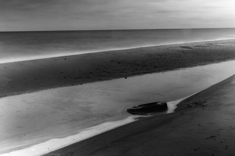 landscape, seascape, sea, baltica, ostsee, kaliningrad, калининград, балтика, long exposure, bnw, monochrome, black and white, чб ***photo preview