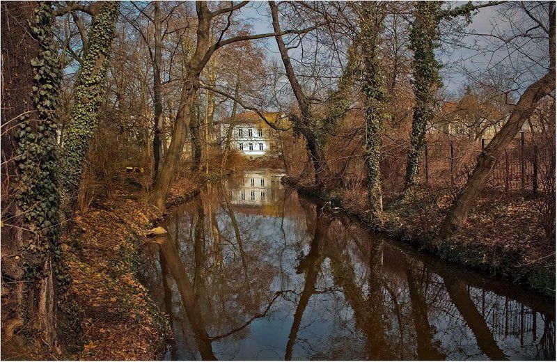 foto liubos, пейзаж, германия, вода, отражения,бранденбург Тихий уголокphoto preview