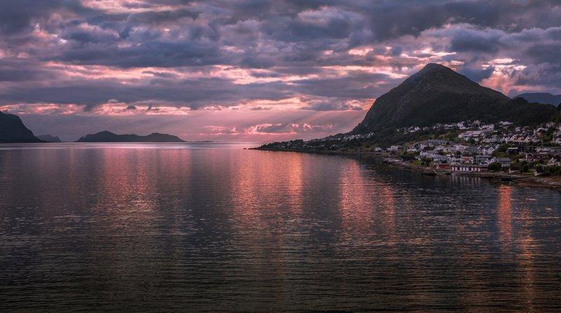 норвегия, олесунн, аlesund, море, острова, горы, скалы, закат, ВЕЧЕРНИЙ ОЛЕСУННphoto preview