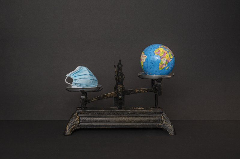 conceptual, still-life, covid-19, earth , envoirenment The weight of the maskphoto preview
