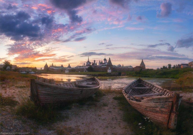 пейзаж, архангельск, россия, рассвет, соловки, кремль Известный видphoto preview