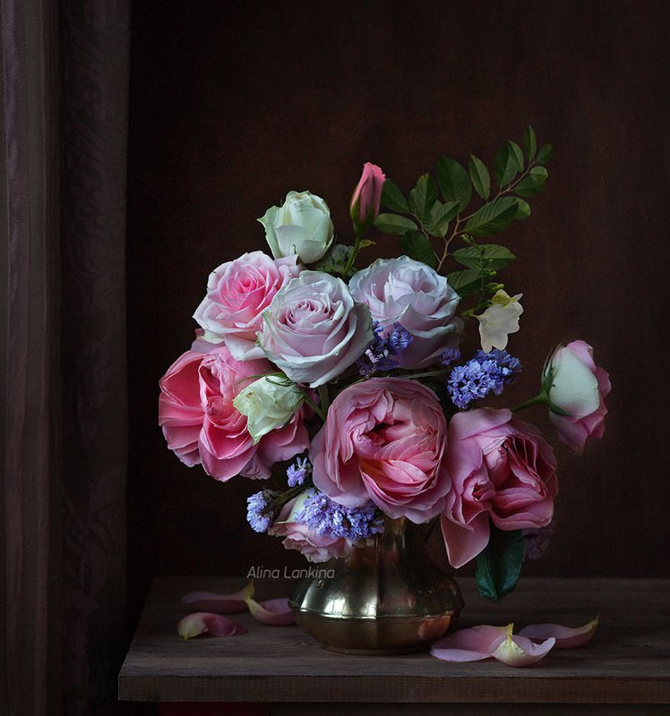 натюрморт, цветы, розы, арт, алина ланкина, художественный натюрморт, натюрморт с цветами, лето, свет ***photo preview