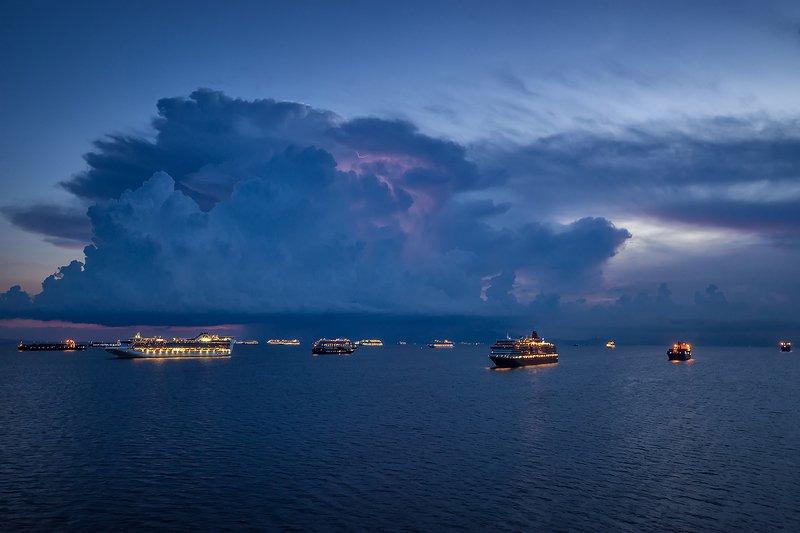 sea , sunset , sky , cruise ships , princess cruise , trip , tourism , cruise photo preview