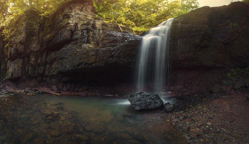 панорама, водопад, лес ***photo preview
