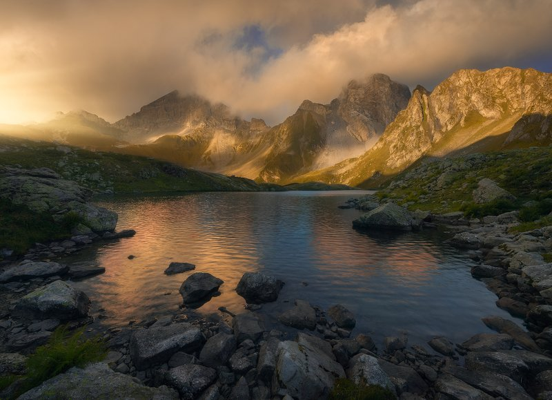 #кавказ, #загеданские, #озера, #пятиозерье, #лето2020, #пейзаж, #закат Западный Кавказphoto preview