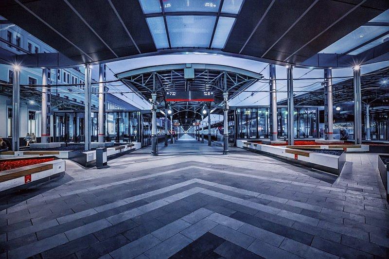 москва, вечер, вокзал Вокзалphoto preview