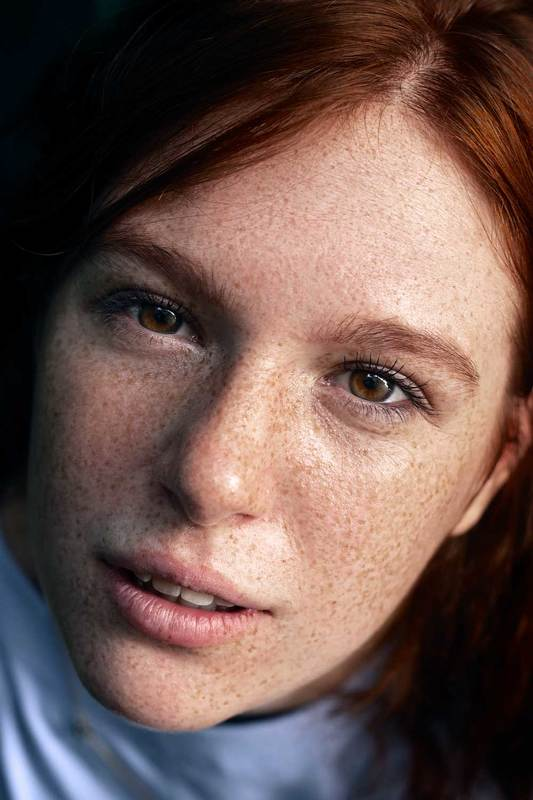 People,  Female, Portrait, Headshot, Studio Shot, Beauty, Red, red hair, ginger, rufous, carroty, foxy, Judas-coloured, red-haired, freckles, cute, young, Teenager, Teenage Girl, Girl, Looking At Camera, Close-up, Human Face, Day, Маргоphoto preview