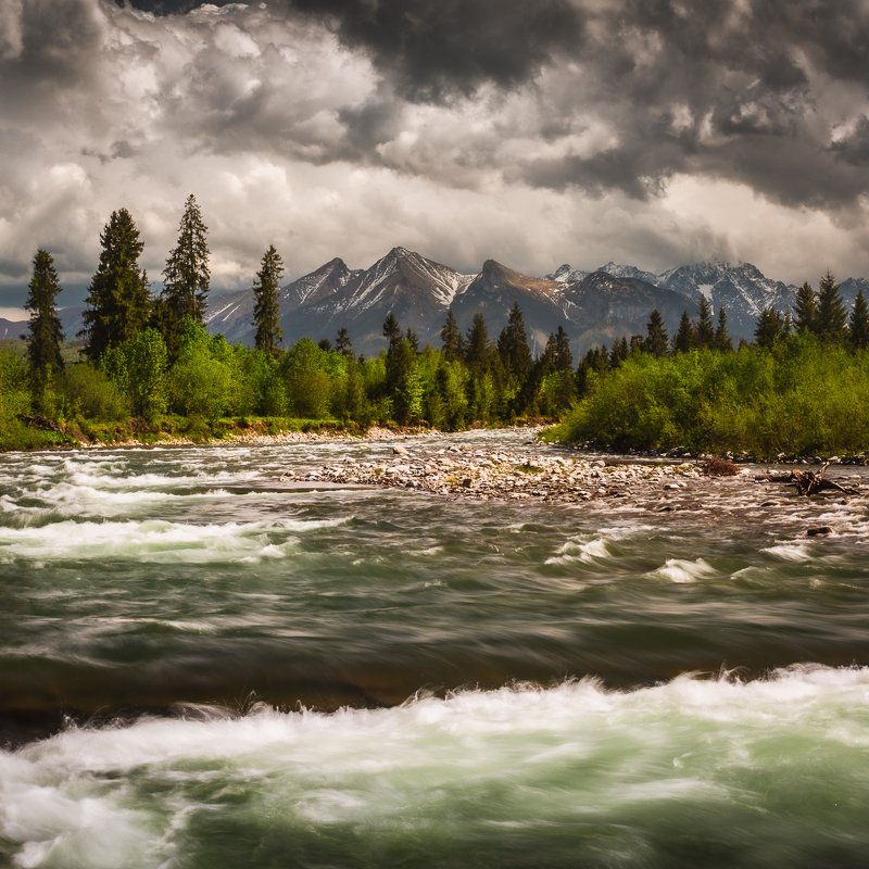 Białka river and Tatrasphoto preview