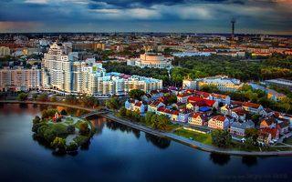 Последние лучи заката над Минском?