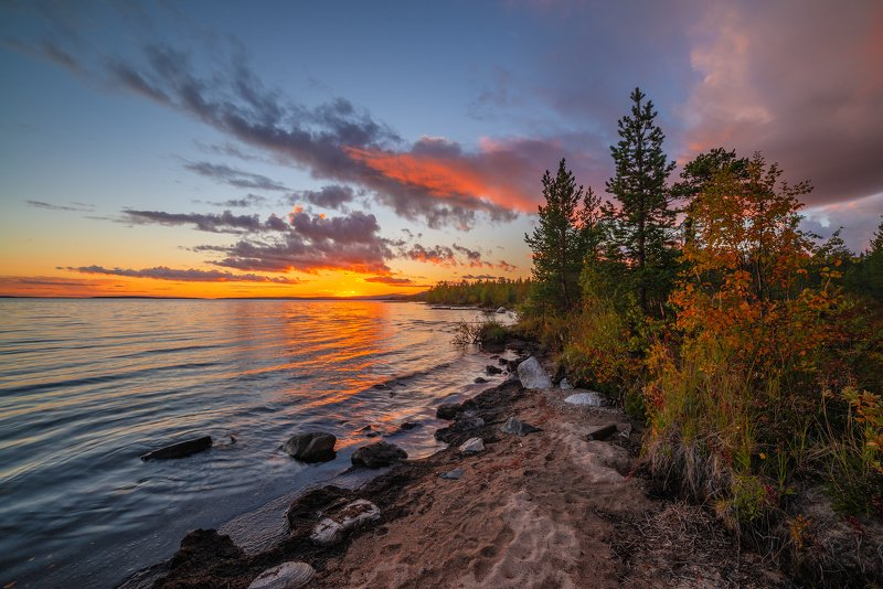 север, кольский, хибины, заполярье, имандра,осень, На Имандре...photo preview