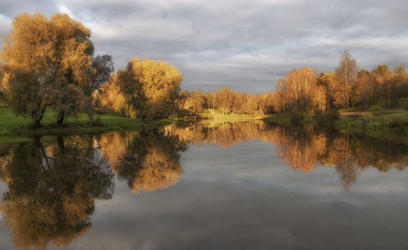 павловск. река славянка. октябрь. вечер. Река Славянка.photo preview