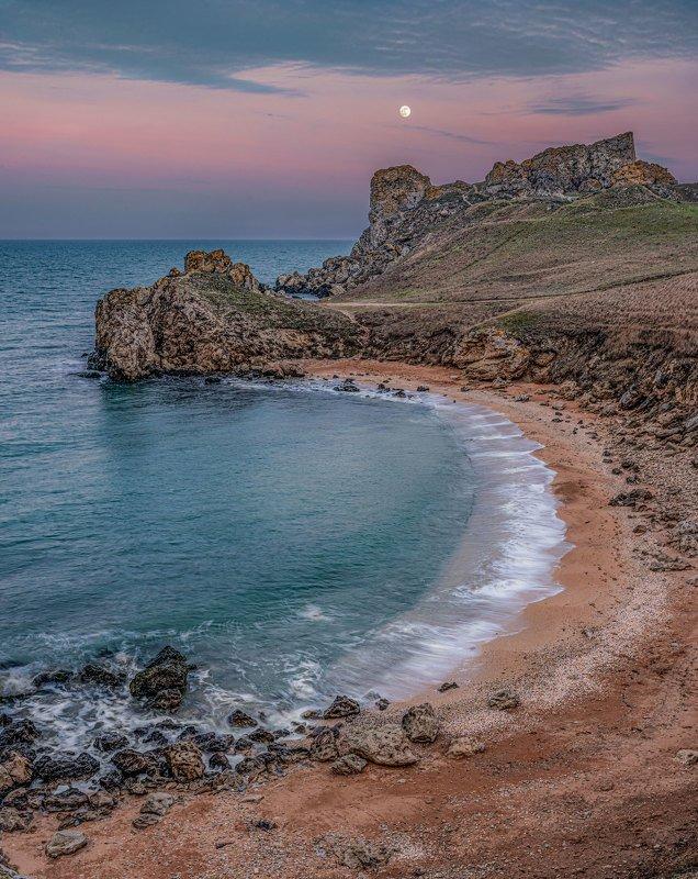 Восход луны над Азовомphoto preview