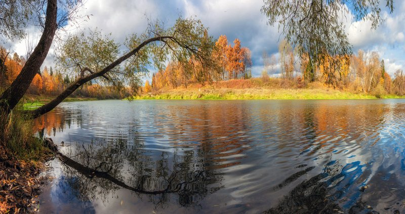 река, москва, осень, природа, подмосковье Осенняя рекаphoto preview