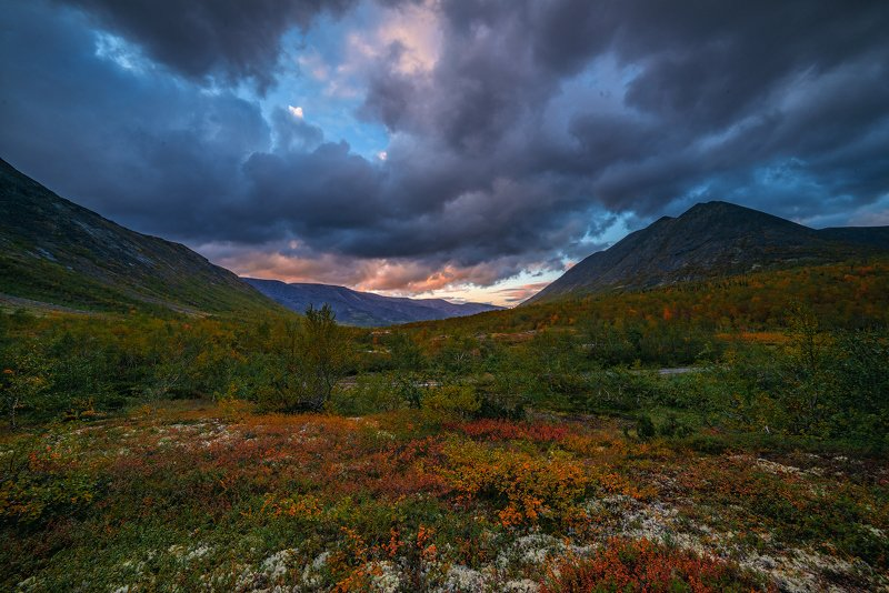 север, кольский, хибины, заполярье,осень, Наливка осенняя. Хибины.photo preview