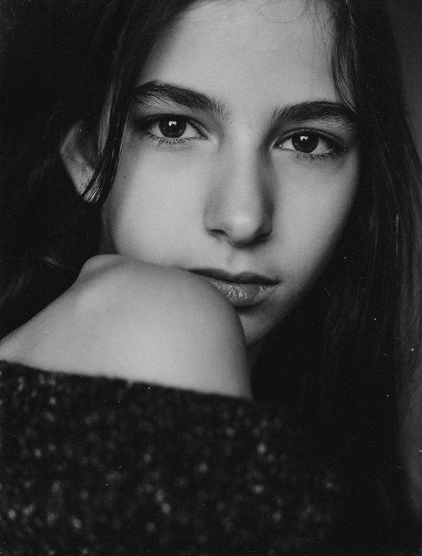 портрет, девочка, красота, чб, Софияphoto preview