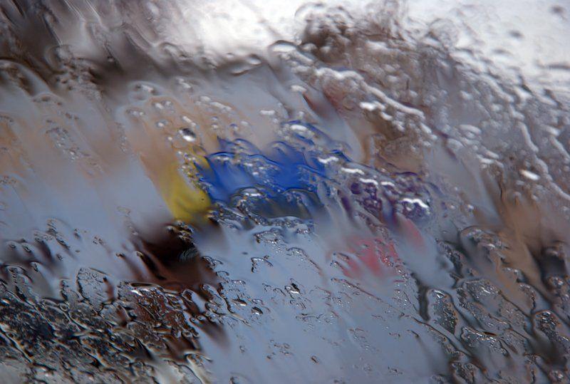 дождь Акварельphoto preview