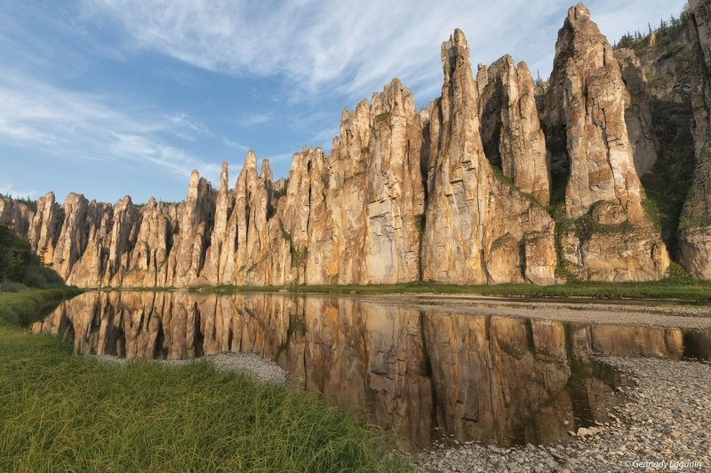 вечер, река, скалы, evening, river, rocks Каменный замок реки Сиинэphoto preview