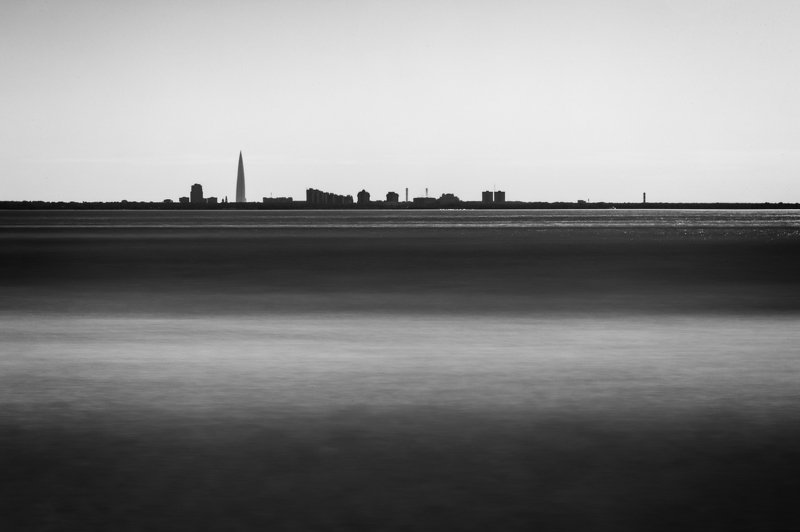 long exposure, sea, saint-petersburg, bnw, black and white, sea, minimalism, чб, монохром, monochrome, Сенкт-Петербург, горизонт, пейзаж, seascape, landscape, ***photo preview
