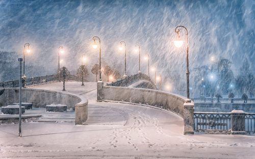 В городе снег