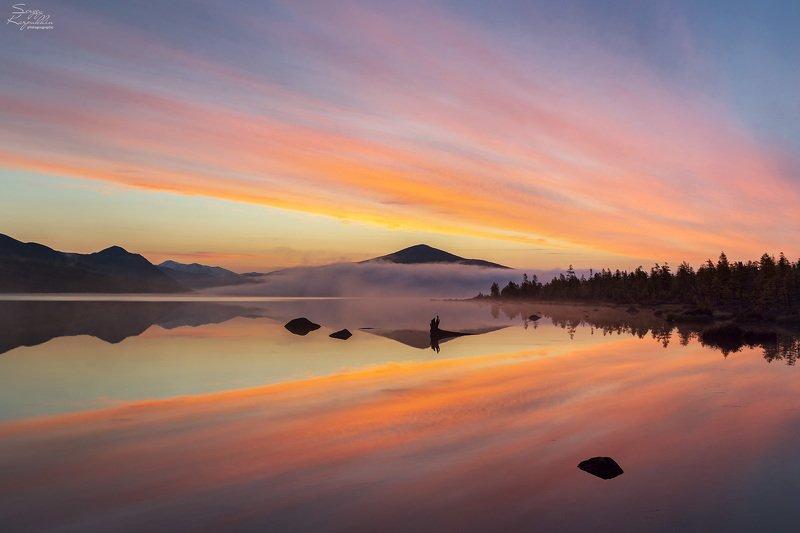 озеро джека лондона, колыма, магаданская область Счастливое утро на озере Джека Лондонаphoto preview