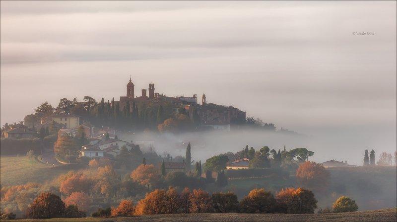 italy,san quirico d \\\' orcia,italia,утро,италия,тоскана,кипарис,toscana,осень,tuscany,cipressi,belvedere Утро туманноеphoto preview