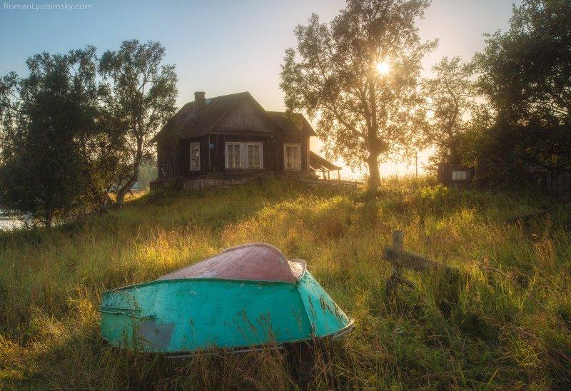 деревня, соловки, домик, закат, роман любимский Домик рыбакаphoto preview
