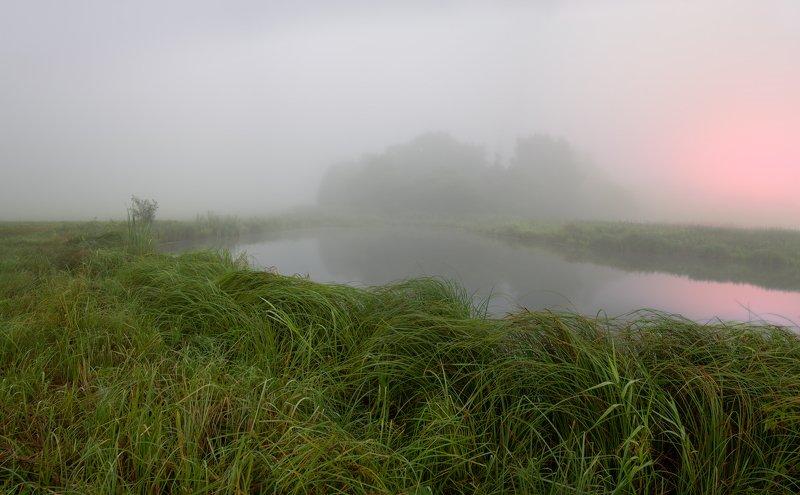 рассвет, река, туман, Туманный рассветphoto preview