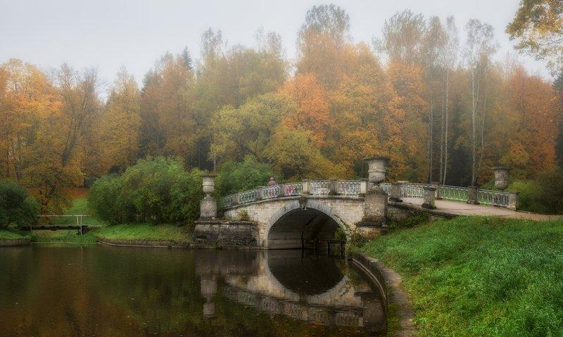 павловск. висконтиев мост. октябрь. Павловск. Висконтиев мост.photo preview