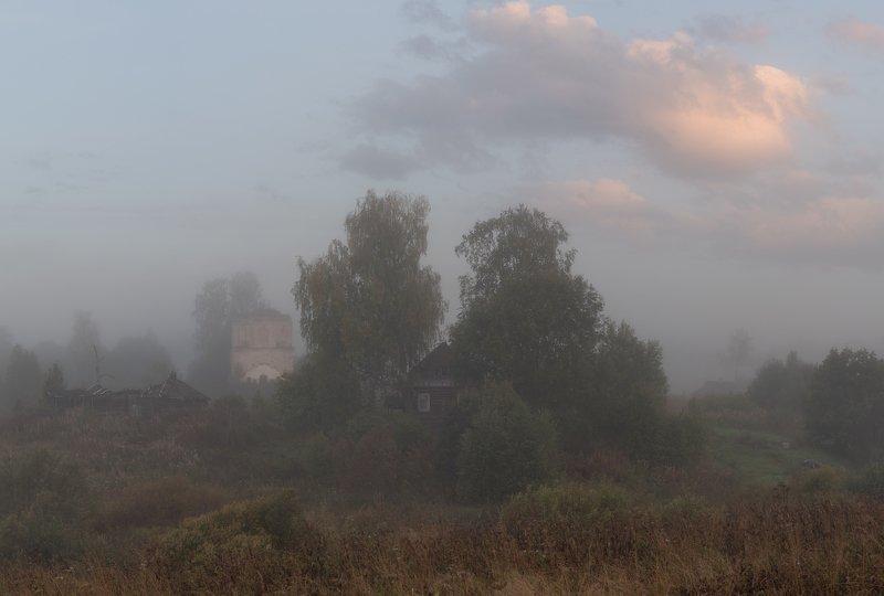 новгородская область, туман, осень, сентябрь, утро Меланхолияphoto preview