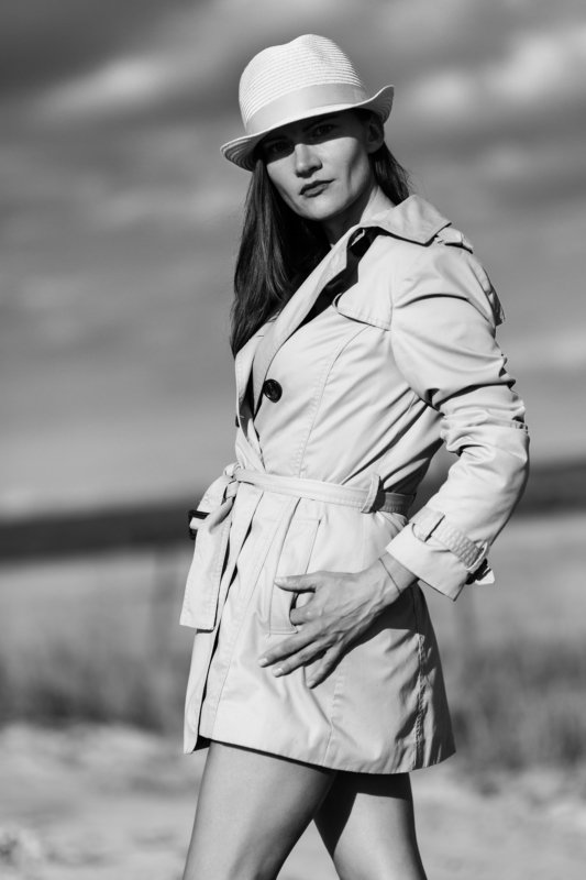 портрет, женский портрет, уличный портрет, шляпа, чб, черно-белая фотография, монохром, bnw, black and white, monochrome, portrait, woman portrait, street portrait, hat, ***photo preview