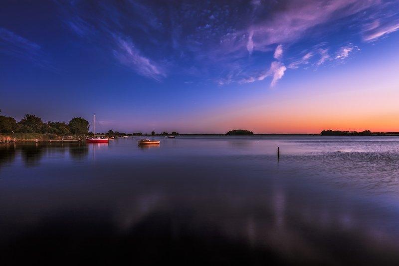 дания, остров, вечер, море, берег, лодки, Остров спит.photo preview