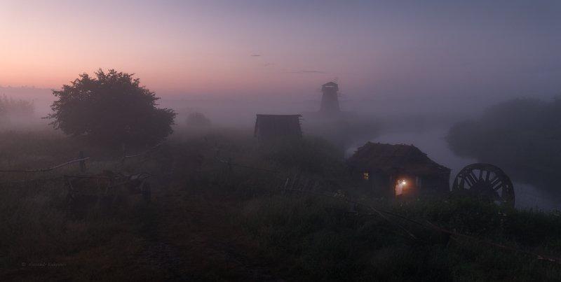 пейзаж,рассвет,утро О мельнике и мельницах...photo preview